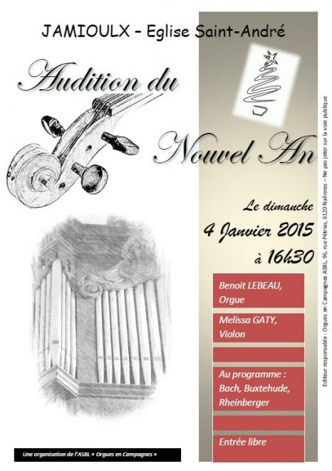 Affiche Audition 04-01-2015