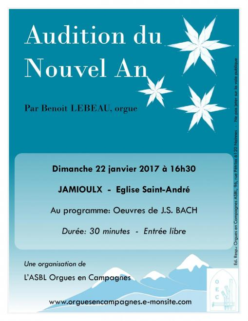 Affiche audition nouvel an Jamioulx 2017