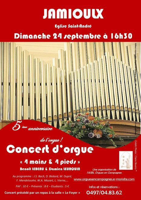 Affiche concert jamioulx 24 09 2017
