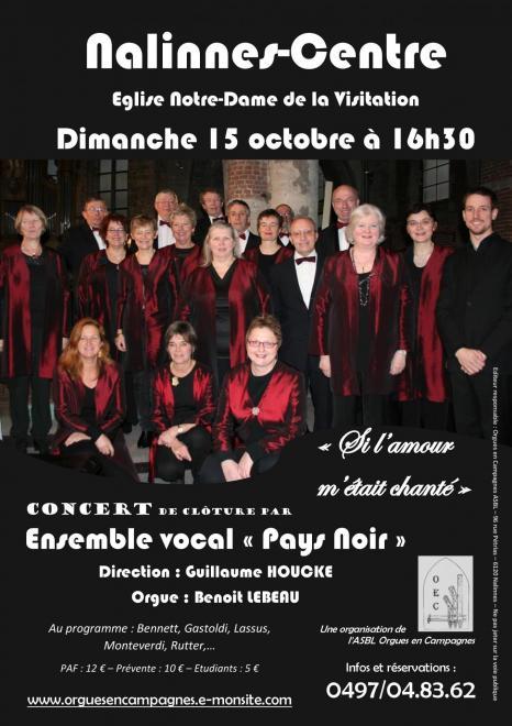 Affiche concert Nalinnes-Centre 15 10 2017