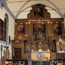 Vue générale vers le choeur et l'autel monumental